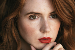 Karen Gillan The Laterals Magazine Photoshoot 4k Wallpaper
