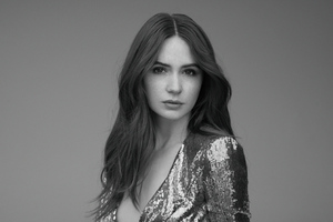 Karen Gillian 2019 Monochrome Wallpaper
