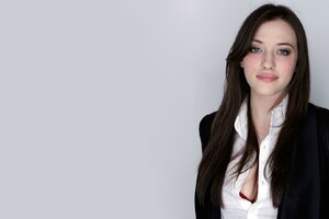Kat Dennings Long Hairs Wallpaper