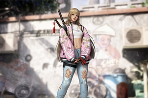 Katana Urban Girl 4k Wallpaper