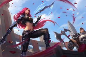 Katarina League Of Legends Sword 4k Wallpaper