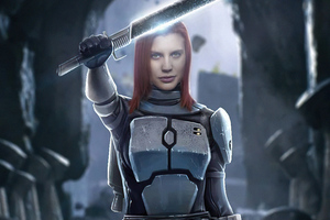 Katee Sackhoff As Bo Katan Kryze The Mandalorian Wallpaper