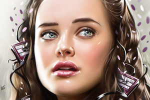 Katherine Langford 13 Reasons Why Illustration