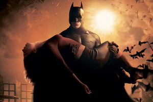 Katie Holmes Batman Begins Poster 4k