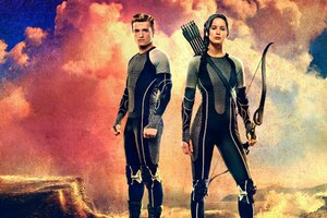 Katniss Catching Fire Wallpaper