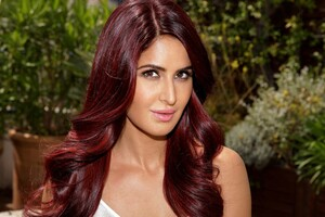 Katrina Kaif Red Hairs Wallpaper