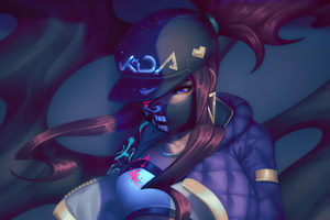 KDA Akali Art New Wallpaper