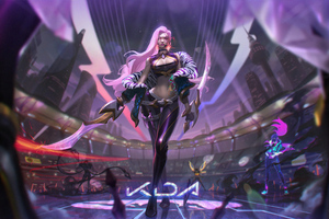 Kda Akali League Of Legends FantasyArt 4k Wallpaper