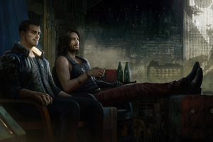 Keanu And V Chillling Wallpaper