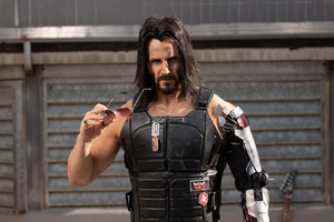 Keanu Reeves Cyberpunk 2077 Cosplay Wallpaper
