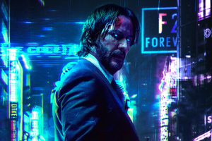 Keanu Reeves Cyberpunk 2077 FanArt Wallpaper