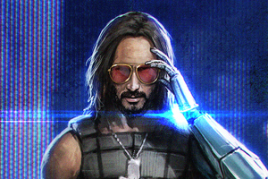 Keanu Reeves In Cyberpunk 2077 4k Art Wallpaper