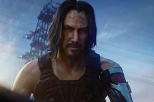 Keanu Reeves In Cyberpunk 2077 Wallpaper