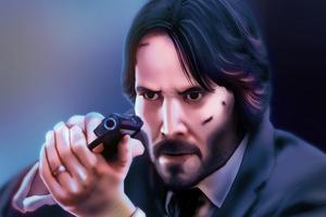 Keanu Reeves John Wick 4k Art