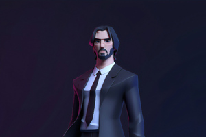 Keanu Reeves John Wick Fan Art Wallpaper