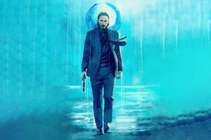 Keanu Reeves Walking With Gun Wallpaper