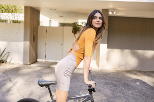 Kenall Jenner With Bike Wallpaper