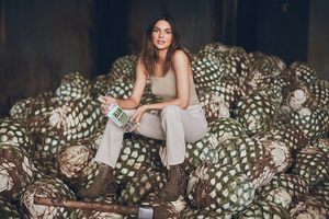 Kendall Jenner Photoshoot For Blanco Tequila Wallpaper