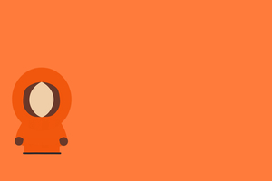 Kenny McCormick South Park Minimalism 8k