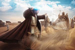 Kenobi Vs Sand People 4k Wallpaper