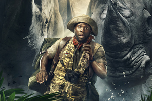 Kevin Hart As Mosse Finbar Jumanji Welcome To The Jungle Wallpaper