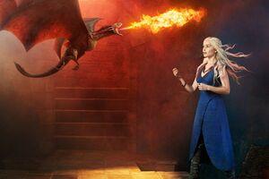 Khaleesi With Dragons