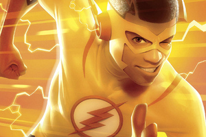 Kid Flash Art Wallpaper