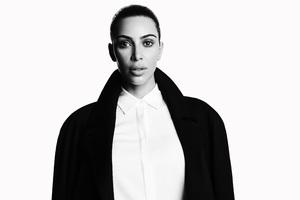 Kim Kardashian 5k Monochrome Wallpaper