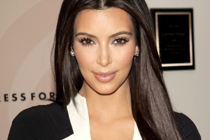 Kim Kardashian Brunette Wallpaper