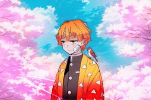 Kimetsu No Yaiba Zenitsu Agatsuma Anime Boy 4k Wallpaper