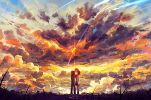 Kimi No Nawa Anime Couple 5k