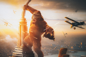 King Kong Vs Plane Wallpaper