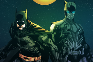 Knight Owl And Batman Wallpaper