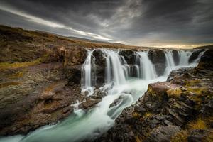 Kolugljufur Iceland 8k Wallpaper