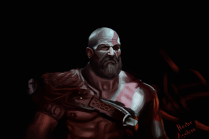Kratos 4k Art Wallpaper