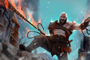 Kratos 4k Artwork New Wallpaper