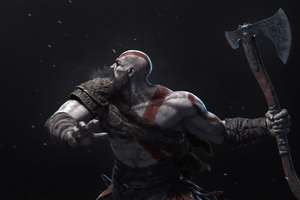 Kratos 4k New Art Wallpaper