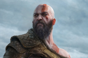 Kratos 4k New Artwork Wallpaper