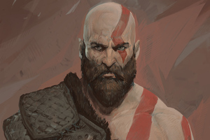 Kratos 5k Artwork Wallpaper