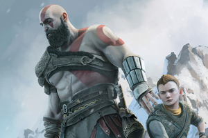 Kratos And Atreus Dad Of Boy 4k Wallpaper