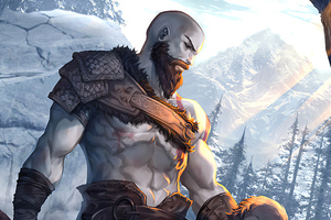 Kratos And Atreus God Of War Art Wallpaper