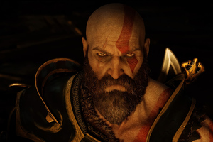 Kratos Angry Eyes God Of War 4 Wallpaper