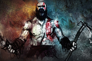 Kratos Art Wallpaper