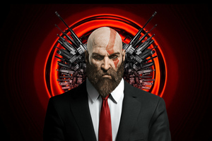 Kratos As Hitman Wallpaper