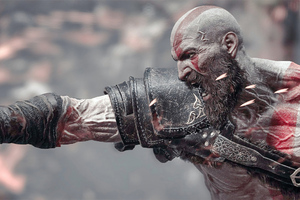 Kratos Digital Art 4k