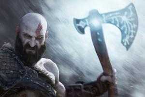 Kratos Digital Paint Art Wallpaper