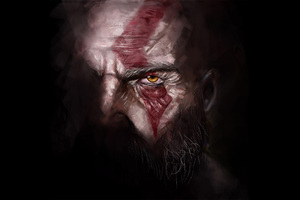 Kratos God Of War 4 Artwork