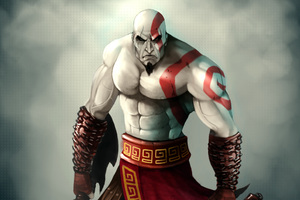 Kratos God Of War 4k Art