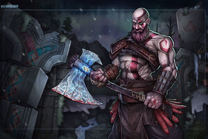 Kratos God Of War Artwork Wallpaper
