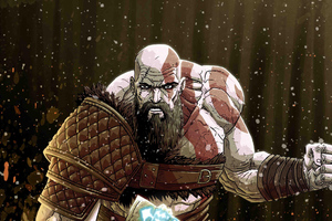 Kratos God Of War Digital Artwork